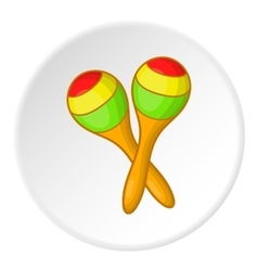 Pair of maracas icon cartoon style vector image