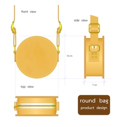 round bag vector image vector image