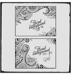 Set of floral decorative frames vector image vector image