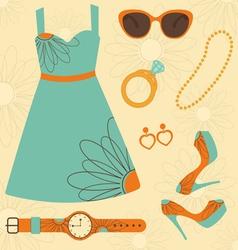 Summer fashion vector image vector image