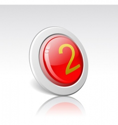 button with the number 2 vector image vector image