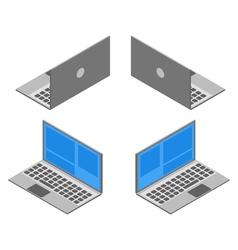 I of isometric laptop vector image