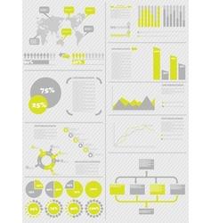 Infographic demographics 5 yellow vector