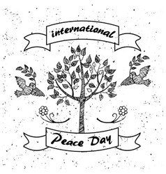 international day of peace promotional poster vector image