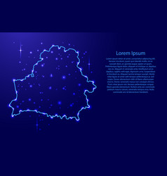 map belarus from the contours network blue vector image vector image
