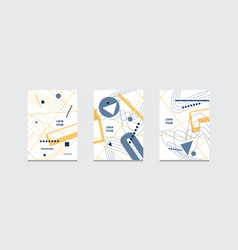 stock set of abstract brochure template covers vector image