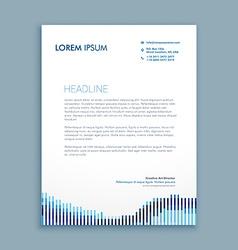 tendy letterhead design vector image
