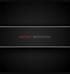 abstract black background with banner vector image