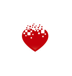 abstract heart shape logo love vector image