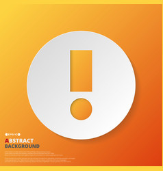 abstract of orange exclamation mark symbol vector image