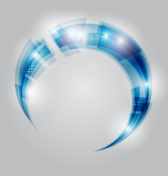 abstract swirl energy circle vector image
