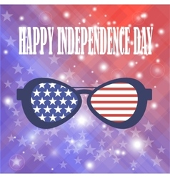 American Sunglasses Background vector image