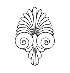 Ancient swirl greek ornament and vector