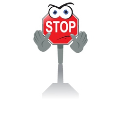 Angry Stop Sign vector image