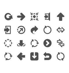 arrows icons download synchronize vector image