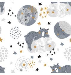 artistic nursery seamless pattern vector image