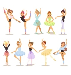 ballerina dancers set vector image
