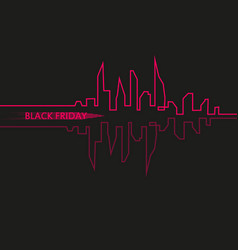 Black friday in the city the perfect sale white vector