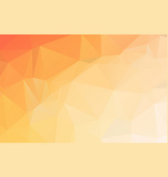 bright orange low polygonal crystal background vector image