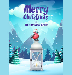 bright the greeting card vector image