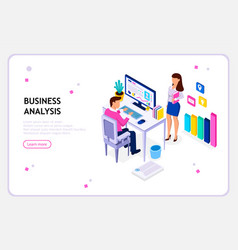 business situations concept of working in office vector image