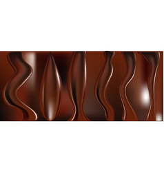 Chocolate with some soft shades and highlights vector