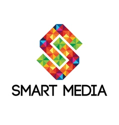 Colorful smart media logo vector image