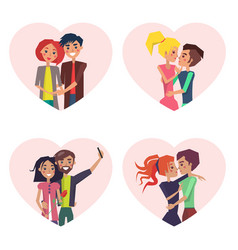 couples in love collection vector image
