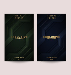 Cover design template with abstract background vector