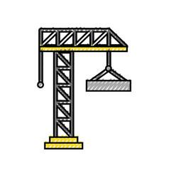Crane construction isolated icon vector
