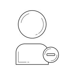delete user line icon vector image