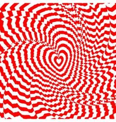 Design heart twirl movement background vector image