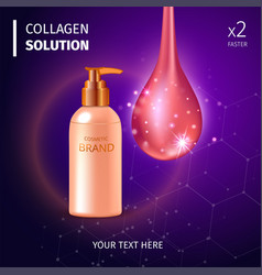 Digital collagen oil essence mockup on vector