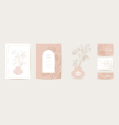dried lunaria flower invitation card vector image
