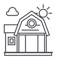 farm building line icon sign vector image