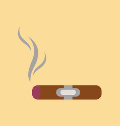 Flat icon on background cuba cigar vector