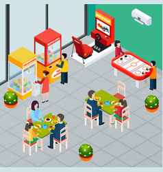 Game machine isometric vector
