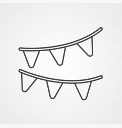 garlands icon sign symbol vector image