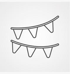 garlands icon sign symbol vector image
