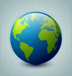 glossy earth icon vector image
