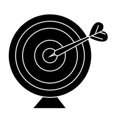 goal target with arrow icon vector image