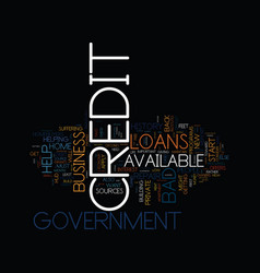 Government credit repairs text background word vector