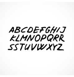 Hand drawn grunge font vector