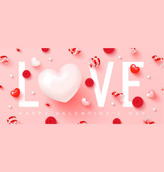 happy valentine s dayromantic composition with vector image