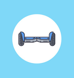 hoverboard icon sign symbol vector image