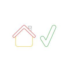 Icon concept house with check mark vector