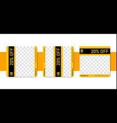 Instagram feed post promotion design template set vector