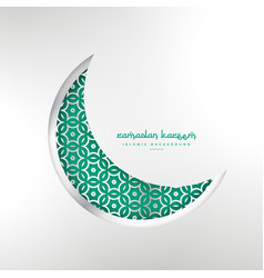 Islamic ramadan festival creative moon design vector