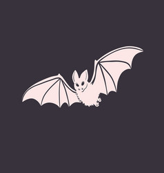 isolated bat halloween design vector image