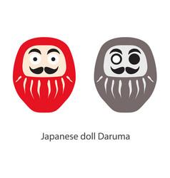 japanese daruma doll simple icon stylized one vector image